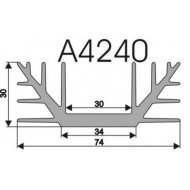 Radiator A4240 L-7cm