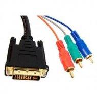 Kabel DVI(24+5)-3RCA 3m