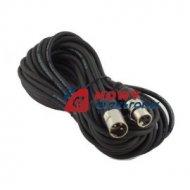 Kabel mikr.6m wtXLR3p gn.XLR3p czarny/czerwony