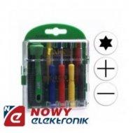 Zestaw do napr. elektr. AKS6008 zestaw narzędzi(wkrętaków)