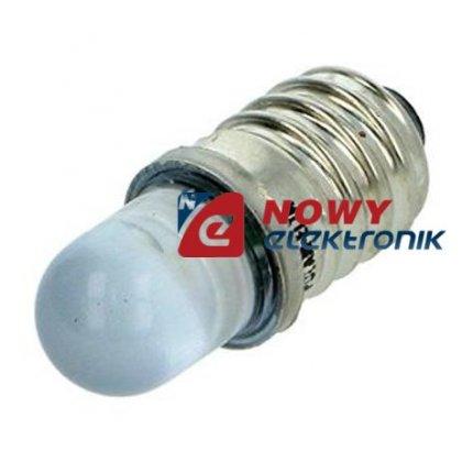 Dioda LED E10 LY-E10 żółty  230V AC  250-300mcd żarówka