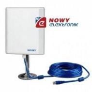 Antena do sieci bezp.WI-FI Sky 46dbi kabel 5m wbudowana karta USB