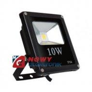 Halogen LED 10W BLACK CW płaski biały zimny  reflektor/naświetlacz