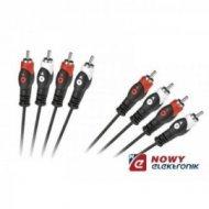 Kabel 4*RCA 3m  łezka