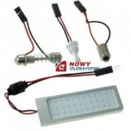 Lampa LED P62x22 12V B nieb. moduł dioda COB BLUE niebieska