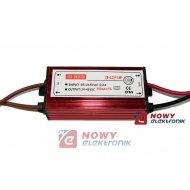 Zasilacz ZI LED prąd. 300mA 12W 24-42V 12W IP67 LED Driver metal