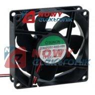 Wentylator 80x25 24V EE80252S1 S ślizg  69,6m3/h EE80252S1-A99
