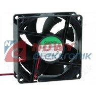 Wentylator 80x25 12V EE80251S3 S ślizg 1.1W 56m3h EE80251S3-999