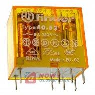 Przekaźnik F40.52.8.048 48VAC 8A 2styki DPDT, do druku, odp.RM94P-48VAC