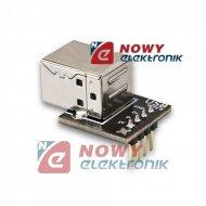 Moduł gn. USB B do płytek styk. prototypowych/ ARDUINO  KLON