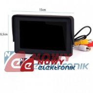 "Monitor LCD 4,3"" VM-432         do systemu cofania 12-24VDC"