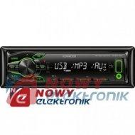 Radio samoch.KENWOOD KMM-100GY USB/AUX GREEN