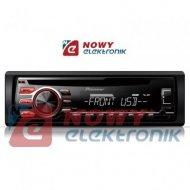 Radio samoch.PIONEERDEH-1700UB CD+USB RED (czerwony)