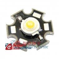 Dioda LED 1W czerwona STAR jasn.51,7-58,9lm 130° 2,2V 350mA