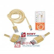 Kabel USB Wt.A-mikroUSB 1m złoty (micro)