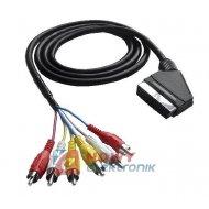 Kabel SCART-6*RCA 5m