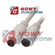 Kabel PS2 wt./gn. 5m MD6M-MD6F 5,0m