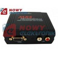 Konwerter VGA/HDMI MRS  VGA+2rca/HDMI