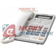 Telefon PanasonicKX-TS620PDW (+ biały, przewodowy z sekretarką