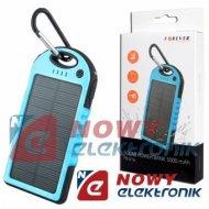 POWERBANK solarny PB016 5Ah nie. 5000mAh bateria (ładowarka) awaryjna