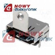 Gniazdo HDMI do mont.kątowe smd HD3 złocony SMT uchwyt