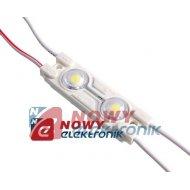 Moduł LED 2xPLCC6 bi.ci.12V 0,5W VDC IP65 3200K 44lm 2xSMD5050 47x15x4.5