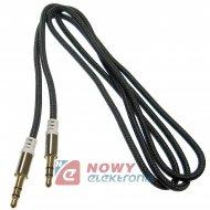 Kabel jack 3,5st wt-wt.1m czarny Mp3 Iphone Ipod NEPOWER