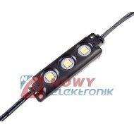 Moduł LED 3xPLCC6 Bi.zi.12V 0,7W IP65 6500K 60lm 3xSMD5050(czarna obud.)