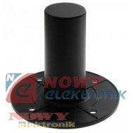 Uchwyt pod stojak MA10 alumin. czarny  kolumnowy