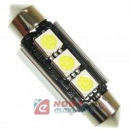 Dioda LED C5W 39mm 3xSMD5050 CAN CANBUS  Biała 12V