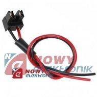 Złącze do reflektorów H7 kabel Gniazdo na kablu 1,5mm 30cm