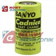 Akumulator do pakietu C N3000CR SANYO 1,2V 3000mAh Ni-CD R14