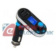 Transmiter FM BLOW + Ład. LCD 2xUSB 2,1A