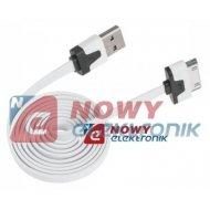 Kabel USB-Apple iPhone 4 płaski