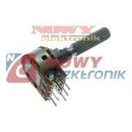 Potencjometr stereo 2x20kΩB liniowy długa oś