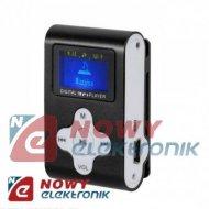 Odtwarzacz MP3 QUER z LCD czarny fun.dyktafonu/radio FM (AC309)