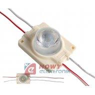 Moduł LED 1x3030 Biały 12V 1,44W 38° 12VDC IP67 8000K 130lm
