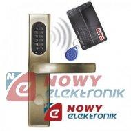 Zamek Elektromech.ELH-30B9/BRASS KLAMKA z czytn.kart RFID oraz szyfr.EURA