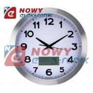 Zegar ścienny 35cm z termometrem i higrometrem LCD VELLEMAN