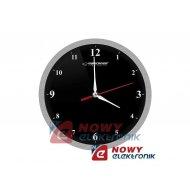 Zegar ścienny ESPERANZA EHC009K czarny 30cm alum.
