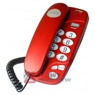 Telefon DARTEL LJ270 bordo/czerw