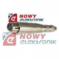 Przejście gn.mikr.3pin/gn.6,3 mo mono  gn.XLR/gn.Jack 6,3