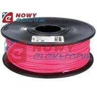Przewód PLA 3mm różowy 1kg filament surowiec drukarka 3D