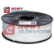 Przewód PLA 3mm biały 1kg filament surowiec drukarka 3D