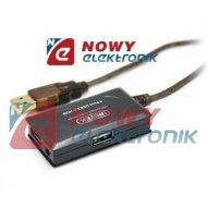 Kabel USB wt.A/gn.A 10m AKTYWNY ze wzmacniaczem + HUB UNITEK