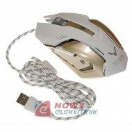 Mysz+Podkładka Gamingowa WESDAR X2 2100DPI Czarny/Biały/brąz HighQuality