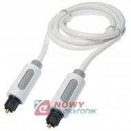 Kabel optyczny T-T 1m Biały ICIDU