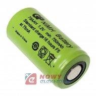 Akumulator do pakietu GP 2/3AA Ni-Mh 1,2V 750mAh 75AAH-B 14,5x28,7mm