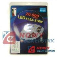 Taśma LED ZESTAW 5050 bi.ci.IP65 5m/150LED + zasil/ biały ciepły