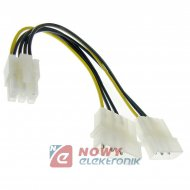 Kabel PCI Adapter 6pin 0,2m MOLEX ICIDU